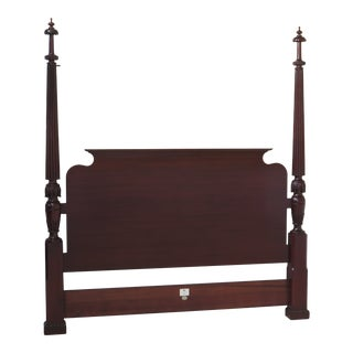Baker King Size Mahogany Poster Bed Headboard For Sale