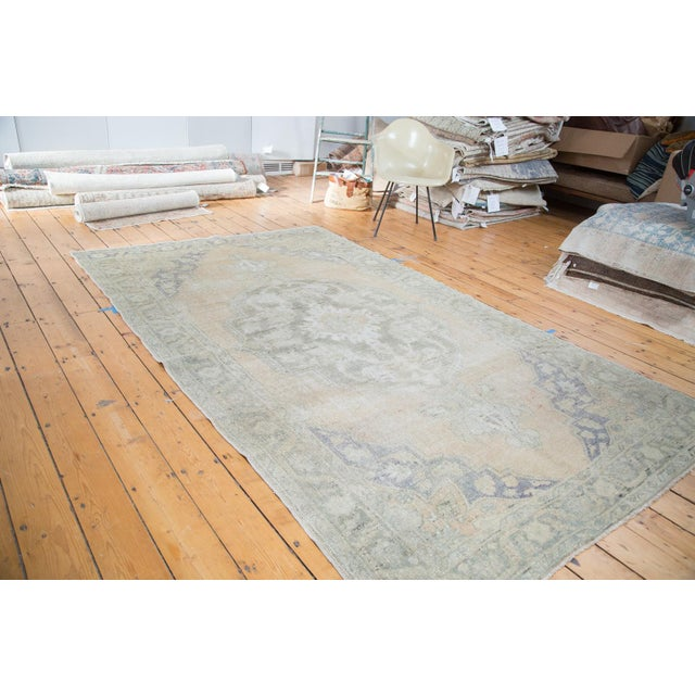 "Peach Distressed Oushak Carpet - 5'9"" x 9'6"" - Image 6 of 8"