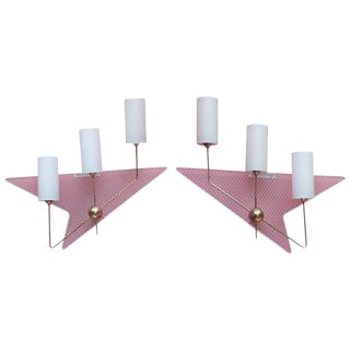 Large Pair of Sconces by Arlus For Sale