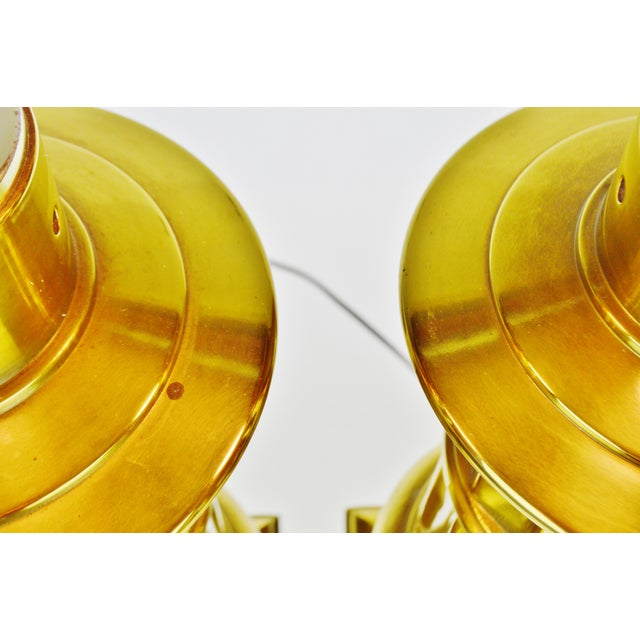 Vintage Neoclassical Brass Table Lamps - a Pair For Sale - Image 9 of 13
