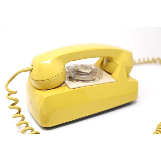 Vintage 1976 Starlite Yellow Rotary Wall Phone For Sale - Image 11 of 12