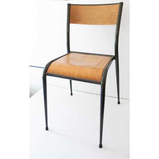 French 1930s French Jean Prouvé Style School Chairs - a Pair For Sale - Image 3 of 5