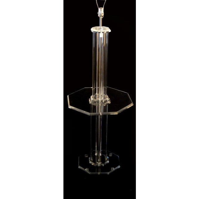 Lucite Floor Lamps - A Pair - Image 6 of 7