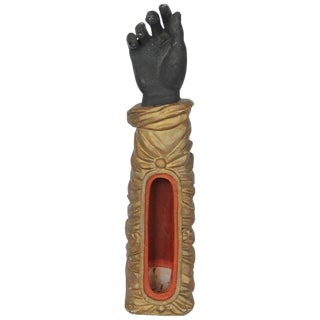1800s French Terracotta Hand Figurine For Sale