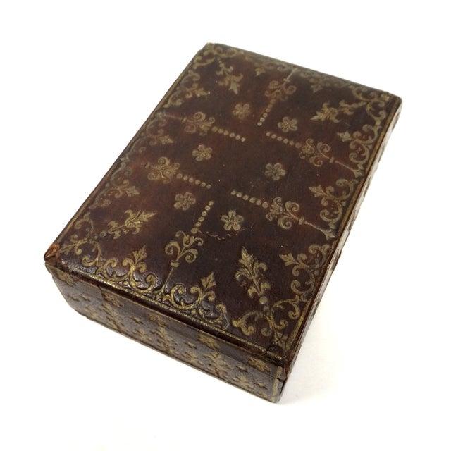 Mini Fleur-de-Lis Leather Box - Image 3 of 10