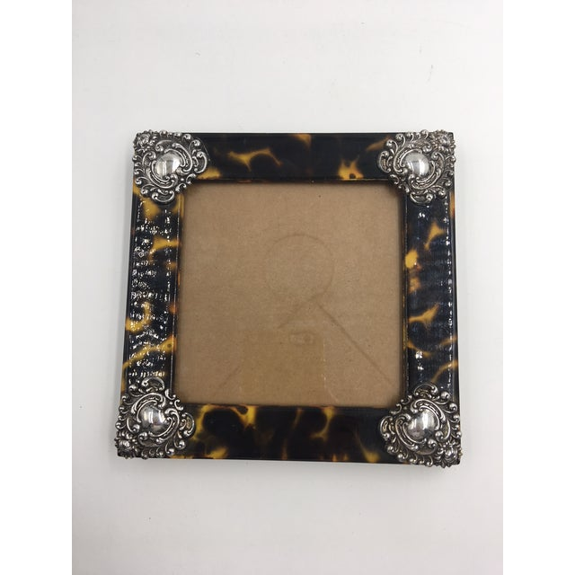 Contemporary Linda Levinson Faux Tortoise Photo Frame For Sale In New York - Image 6 of 9
