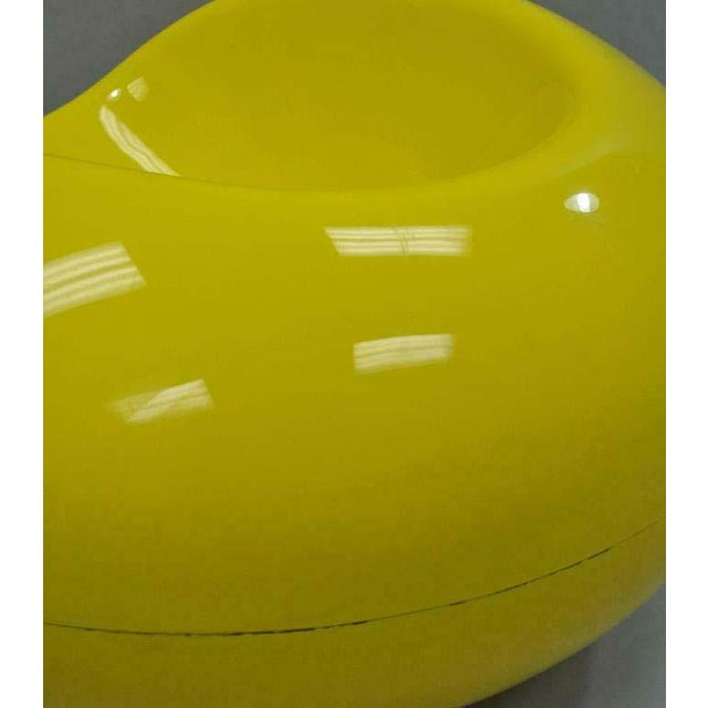 1960s Vintage Eero Aarnio for Asko Yellow Fiberglass Pastille Pod Gyro Lounge Chair For Sale - Image 10 of 11