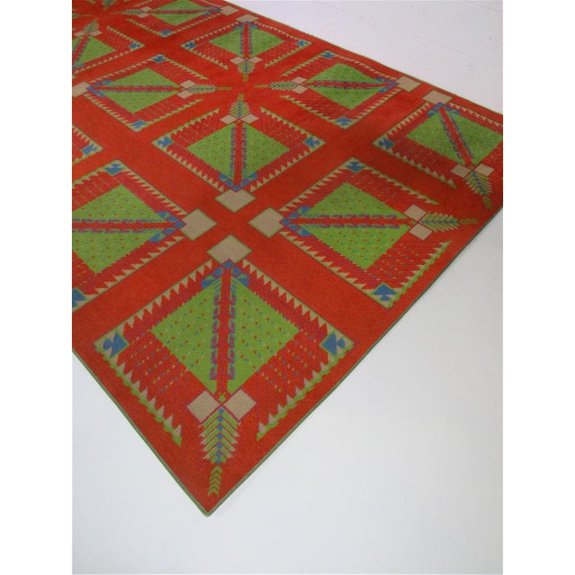 Abstract Frank Lloyd Wright Designed Rug for Az Biltmore by Albert Chase McArthur For Sale - Image 3 of 8