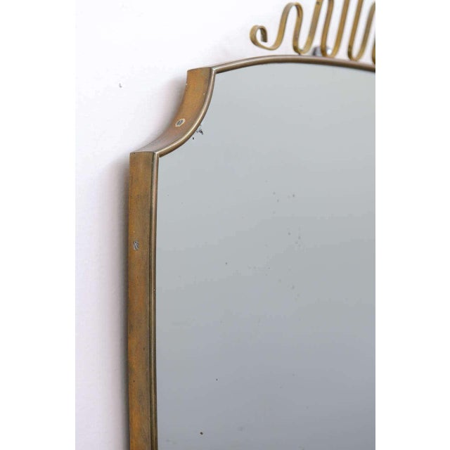 Gio Ponti-Style Italian Shield Mirror - Image 2 of 7