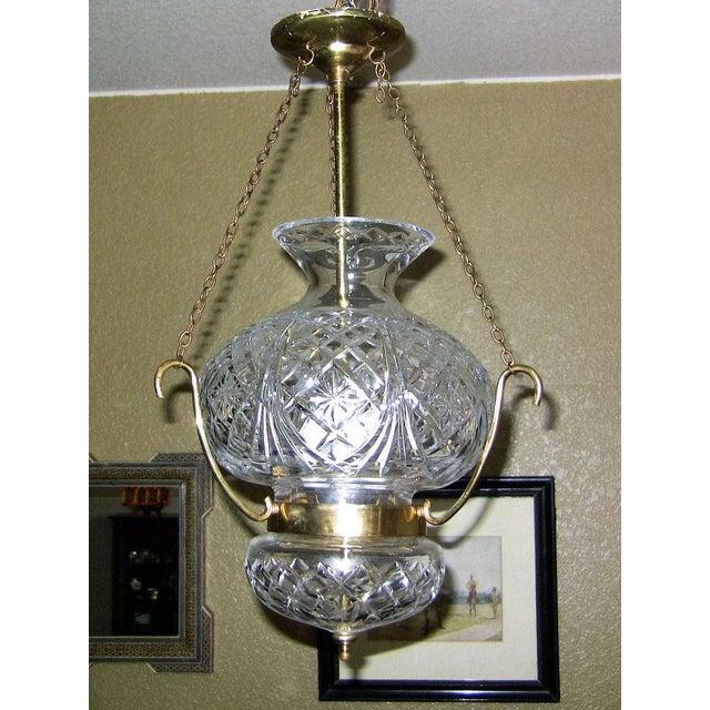Beautiful Mid-Century Irish Waterford Crystal baluster shaped ceiling chandelier…..fully marked. Irish made……circa 1960....