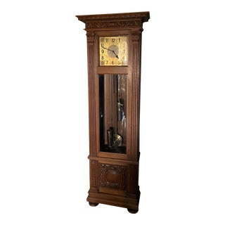 Antique German Transitional Vienna Secessionist Grandfather Clock For Sale