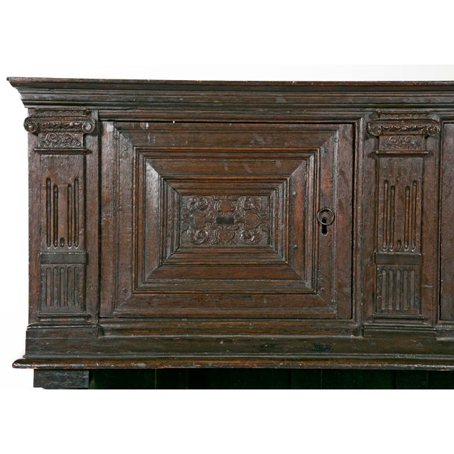 19th Century English Elizabethan Style Dark Stain Oak Cupboard For Sale In San Francisco - Image 6 of 6