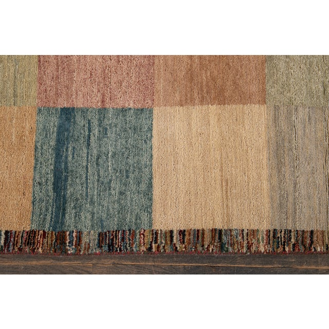 Apadana - Modern Oversize Multicolored Geometric Indian Gabbeh Rug, 10.06x15.06 For Sale - Image 11 of 11