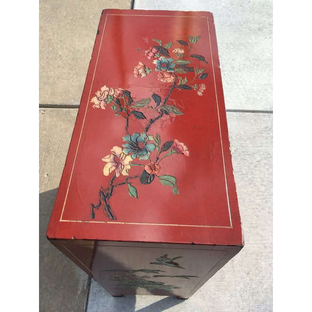 Early 20th Century Chinoiserie Hand Painted Cabinet For Sale - Image 12 of 13