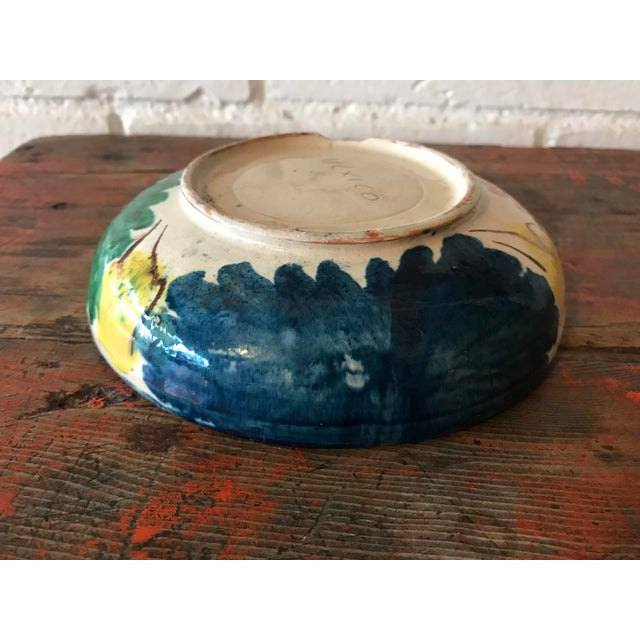 Vintage Mexican Pottery Decorative Bowl For Sale - Image 9 of 11