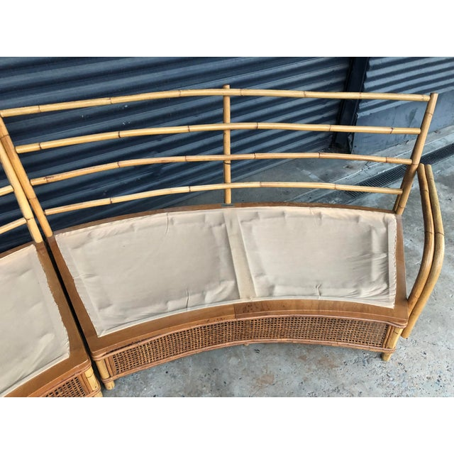 Vintage Ficks Reed Rattan Sectional Sofa Set For Sale - Image 11 of 13