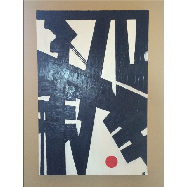 """Heartbreak"" Acrylic on Canvas Painting - Image 2 of 3"