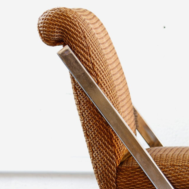 Pair of Mid-Century Synthetic Rattan Chairs.