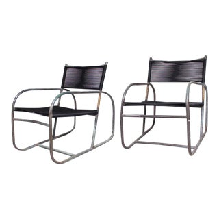 Pair of Walter Lamb Lounge Chairs