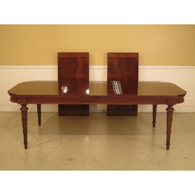 EJ Victor Regency Burl Walnut Dining Room Table For Sale - Image 11 of 11