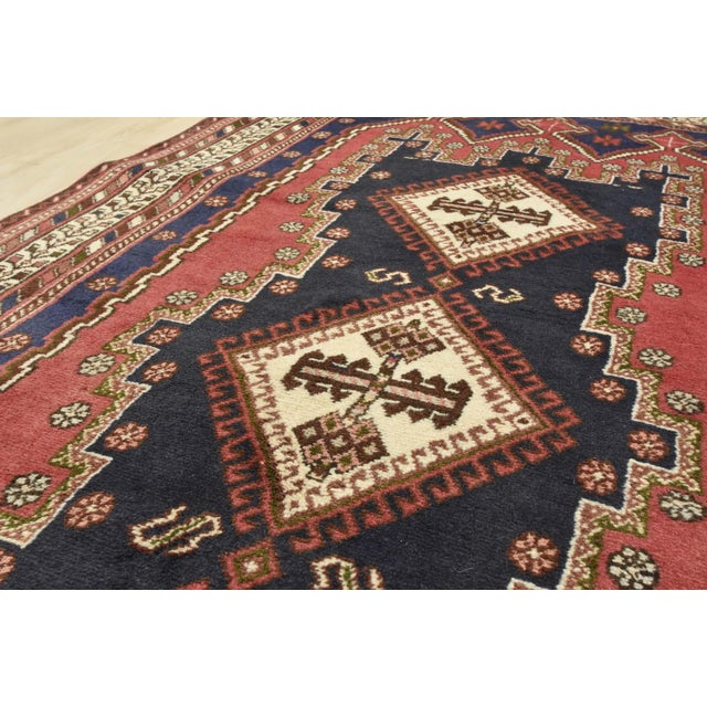 Persian Afshar Runner - 3'5'' X 9'3'' For Sale - Image 9 of 13