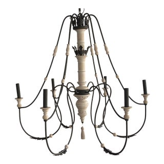 Ethan Allen Large Six-Armed Chandelier For Sale