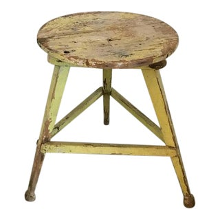 American Three Legged Painted Stool For Sale