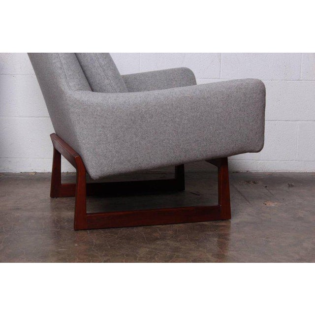 Jens Risom Pair of Lounge Chairs by Jens Risom For Sale - Image 4 of 13
