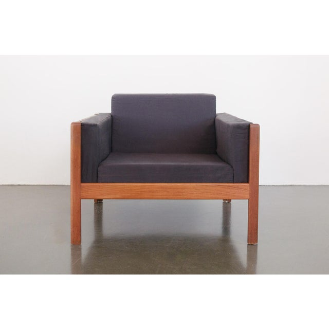 Danish Modern Upholstered Teak Chairs - a Pair For Sale In Seattle - Image 6 of 10
