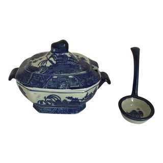 Victoria Ironstone Tureen With Ladle For Sale