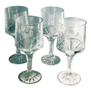 Vintage Fostoria 'Fairlane' Wine Glasses- Set of 4 For Sale