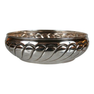 An 800 Silver Serving Bowl with Hallmarks For Sale