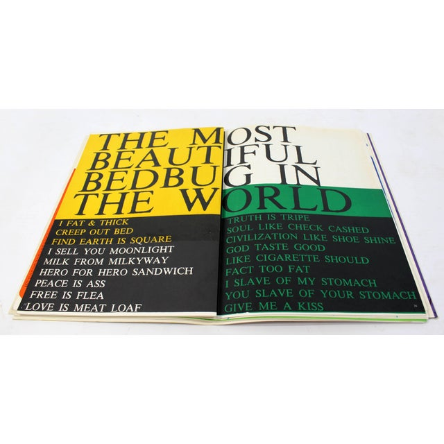 Mid-Century Modern 1969 Walasse Ting Mid-Century Modern Poetry & Art Book Signed For Sale - Image 3 of 10