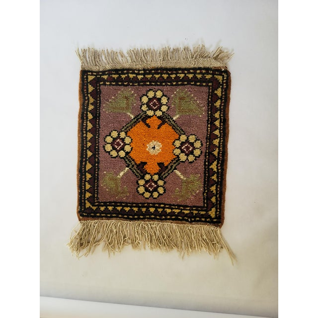 Vintage Handmade Wool Wall Hanging For Sale - Image 4 of 4