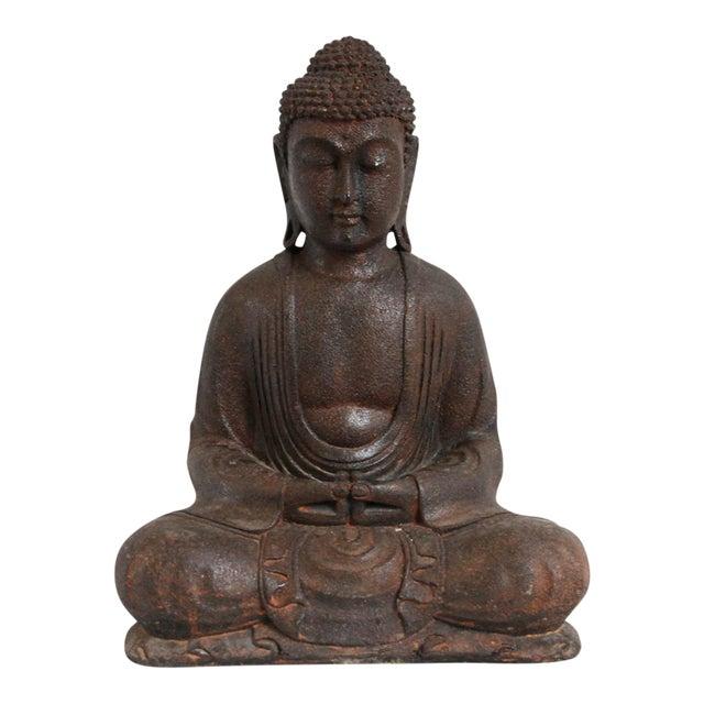 Small Cast Stone Sitting Buddha Figure - Image 1 of 3