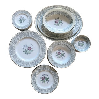 1960s Wedgwood Wildflower Dinnerware - Set of 64 For Sale