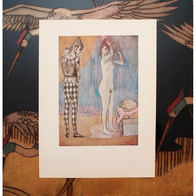Impressionism 1950s Picasso, Original Period Blue Harlequin Lithographs - a Pair For Sale - Image 3 of 13