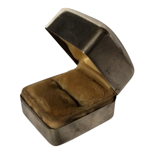 Art Deco Sterling Ring Box For Sale