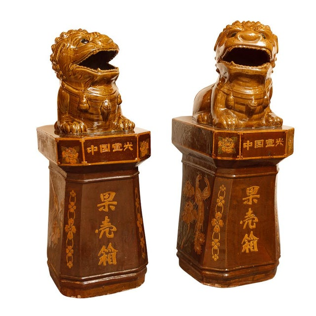 Mid 20th Century Pair of Chinese Sculptures For Sale - Image 5 of 5