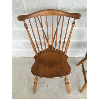 Ethan Allen Windsor Brace Back Nutmeg Dining Side Chairs - a Pair Preview