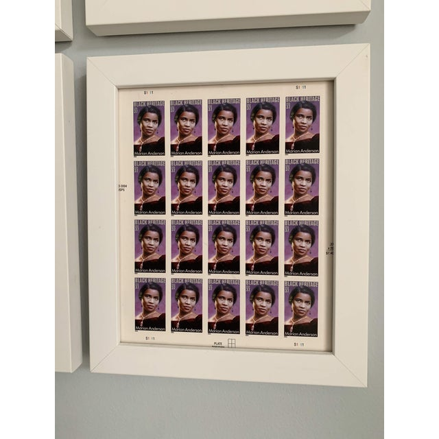 Late 20th Century Black Heritage Month Framed Stamp Collection - 6 Pieces For Sale In Portland, OR - Image 6 of 8