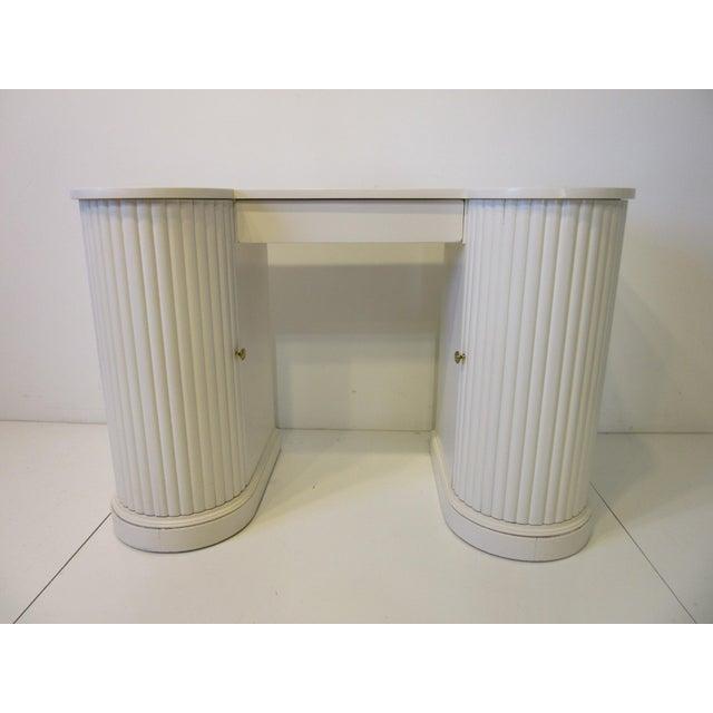 Mid Century Regency Styled Column Desk by Kittinger For Sale - Image 10 of 10