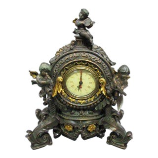 Victorian Style Mantle Clock For Sale