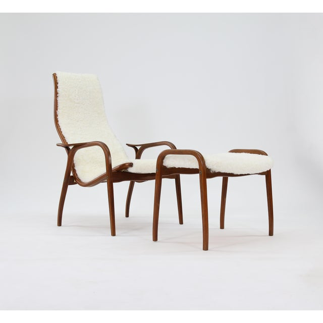 1960s Vintage Yngve Ekstrom for Swedese Lamino Chair and Ottoman For Sale - Image 5 of 13