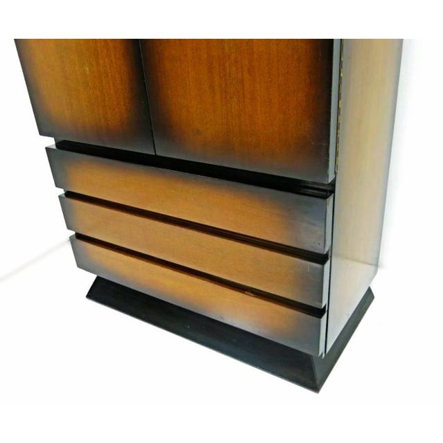 Mid-Century Modern 1950 Mid-Century Sunburst Cabinet For Sale - Image 3 of 5