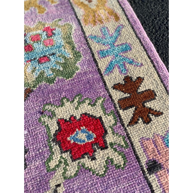 Contemporary Pastel Turkish Oushak Rug - 2′11″ × 9′11″ For Sale - Image 9 of 13