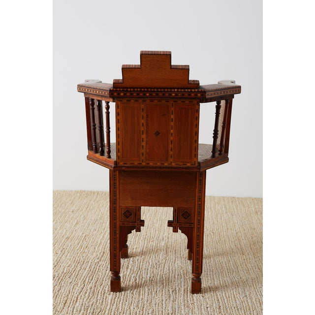 Syrian Armchair With Inlay Moorish Designs For Sale - Image 12 of 13