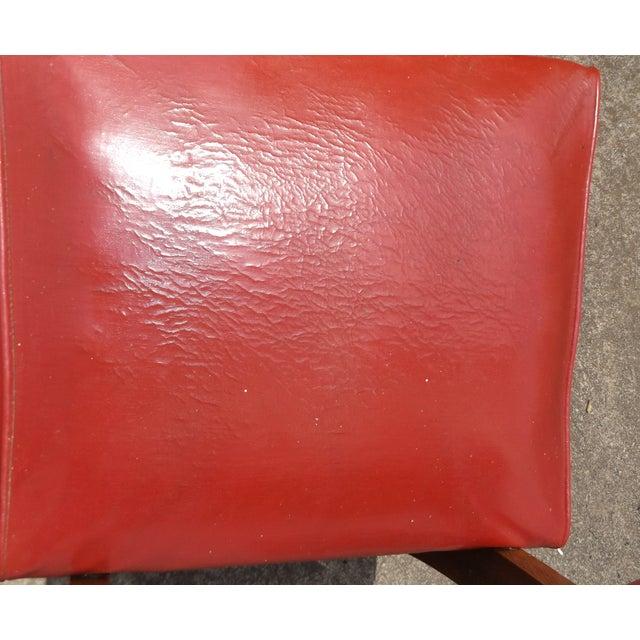 Retro Mid-Century Vinyl Accent Chairs - A Pair - Image 9 of 11
