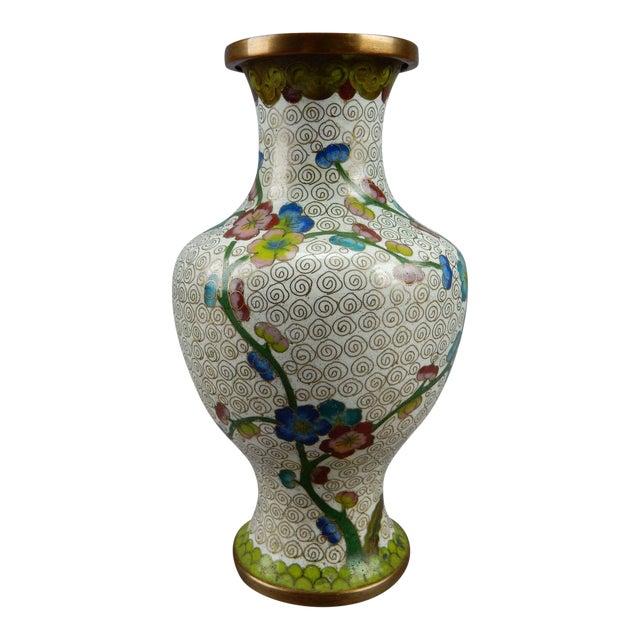 Antique Chinese Cloisonne Vase For Sale