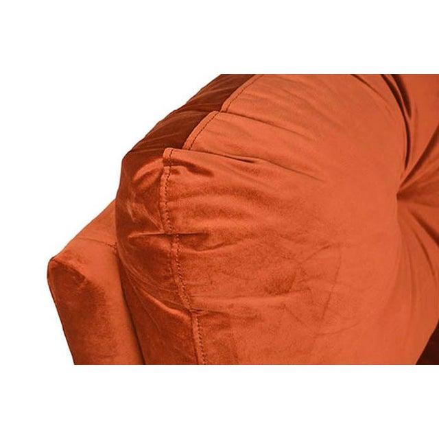 Midcentury Orange Velvet Sofa